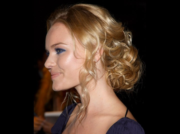 Kate Bosworth's updo with a rough bun