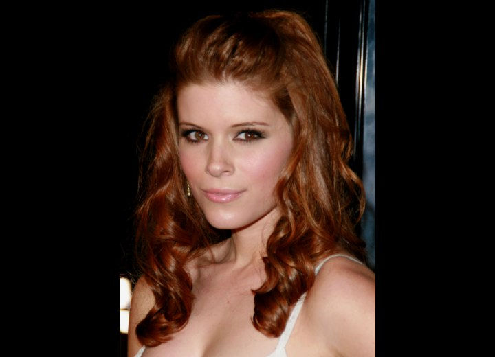 Kate Mara's red hair with curls