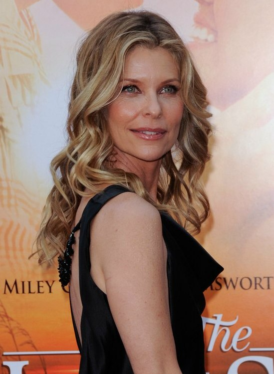 Kate Vernon Wearing Her Hair With Long Spiral Curls That