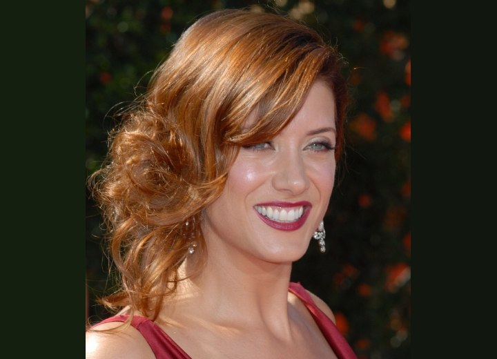 Kate Walsh wearing her hair up