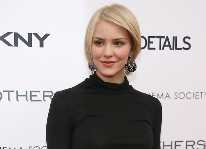 Katharine McPhee wearing a black turtleneck
