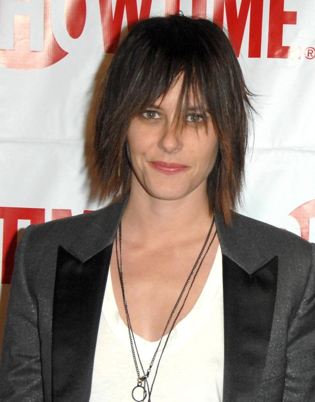 Katherine Moennig Wearing Her Short Hair Flat And Smooth