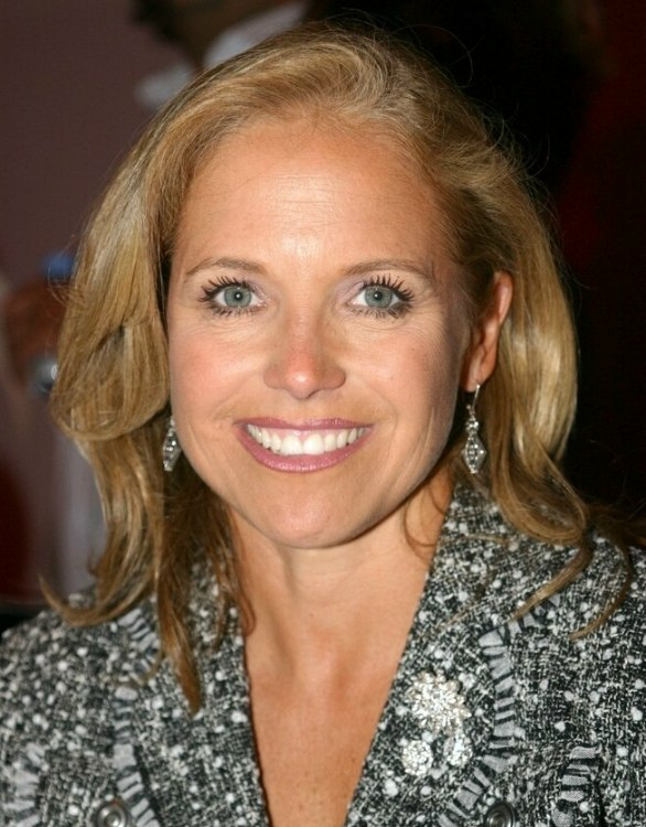 Katie Couric With Long Hair Styled To Make The Most Of Her