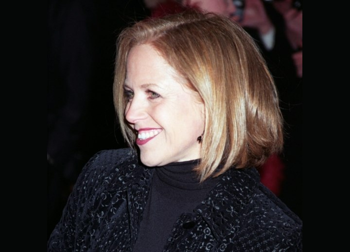 Side view of Katie Couric's hairstyle