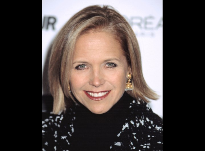 Katie Couric wearing a black turtleneck