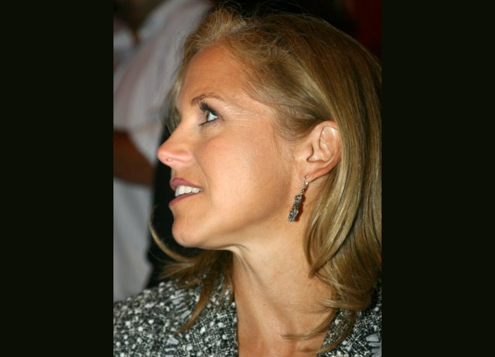 Side view of Katie Couric's hair