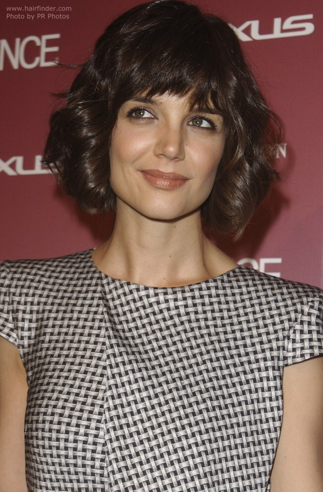 Photo Of The Curly Version Of Katie Holmes Short Bob