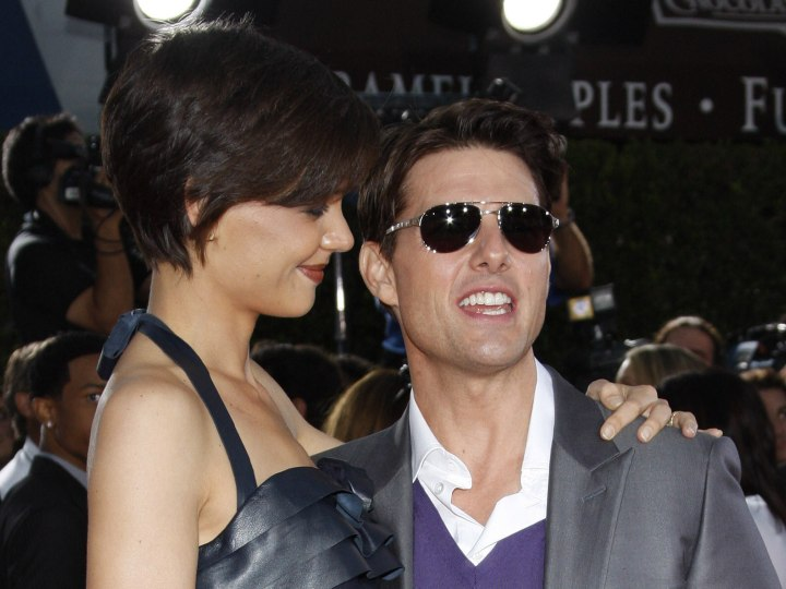 Katie Holmes with very short hair