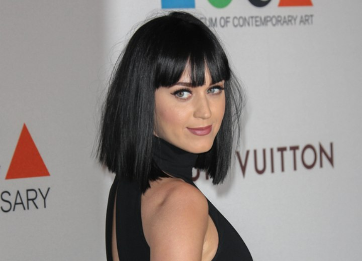 Katy Perry with shoulder line length hair