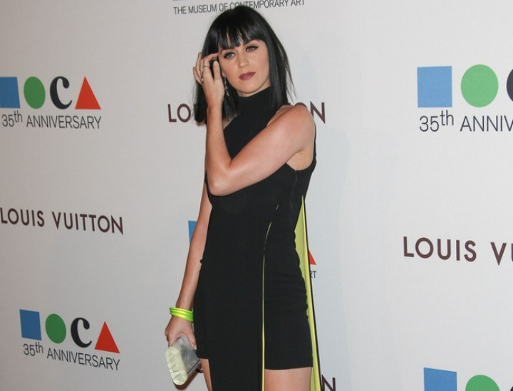 Katy Perry look with black hair