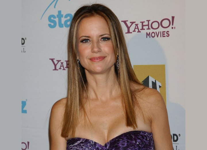 Kelly Preston's youthful look with long hair