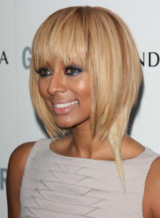 Strange Keri Hilson Wearing Her Blonde Hair In A Long Bob Short Hairstyles For Black Women Fulllsitofus