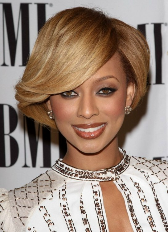 Pleasant Keri Hilson Sporting A Short And Glossy Capped Hairstyle Short Hairstyles For Black Women Fulllsitofus