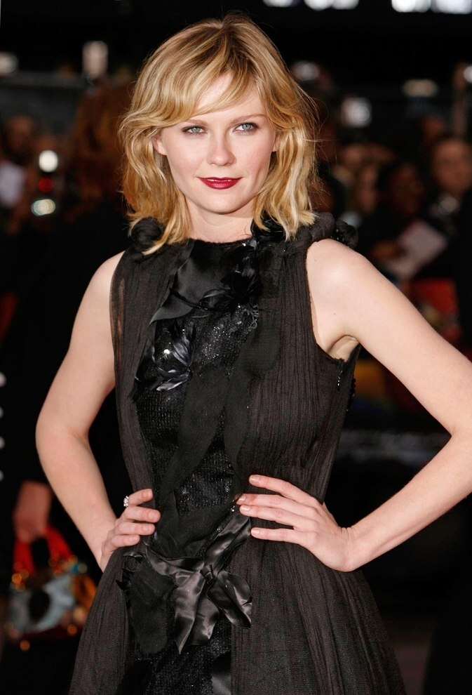 Claudia Schiffer And Kirsten Dunst Hair Center Part And