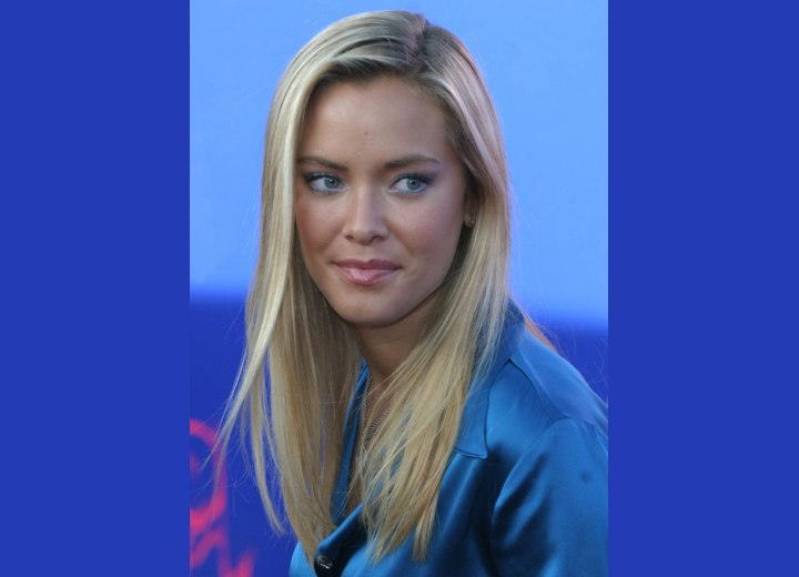 Kristanna Loken with elegant long hair