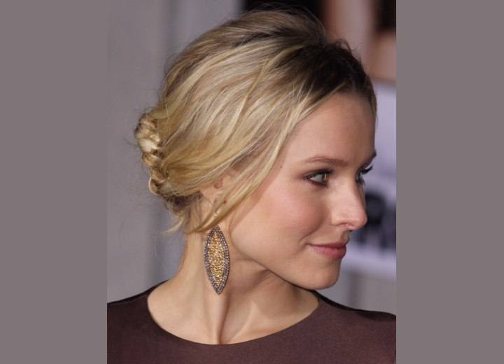 Side view of Kristen Bell's updo