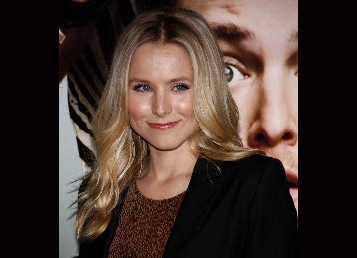 Kristen Bell's long hairstyle with waves