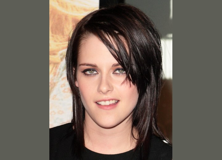 Kristen Stewart's hair in a wet look