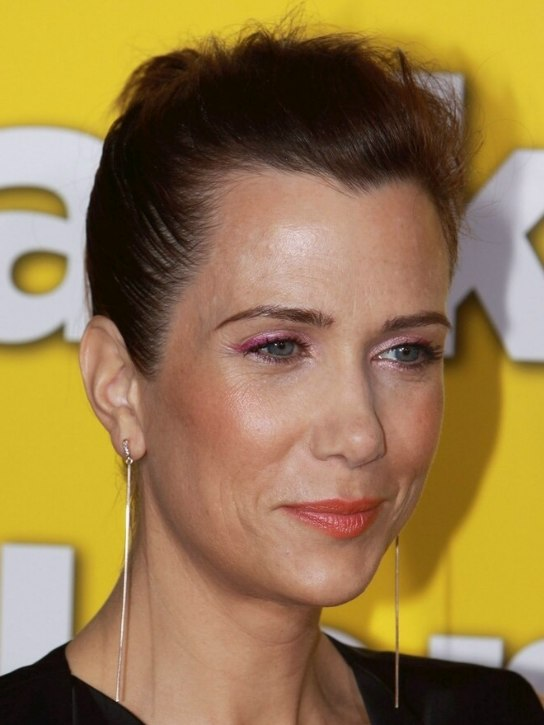 Kristen Wiig | Fake pixie haircut with the hair severely ...
