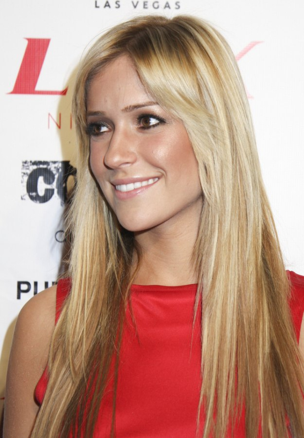 Kristin Cavallari S Super Long And Straight Hair With