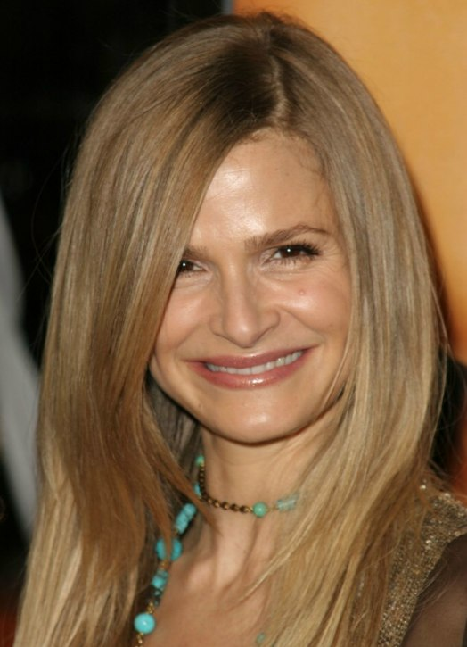 Kyra Sedgwick With Long Super Straight And Exquisite Hair