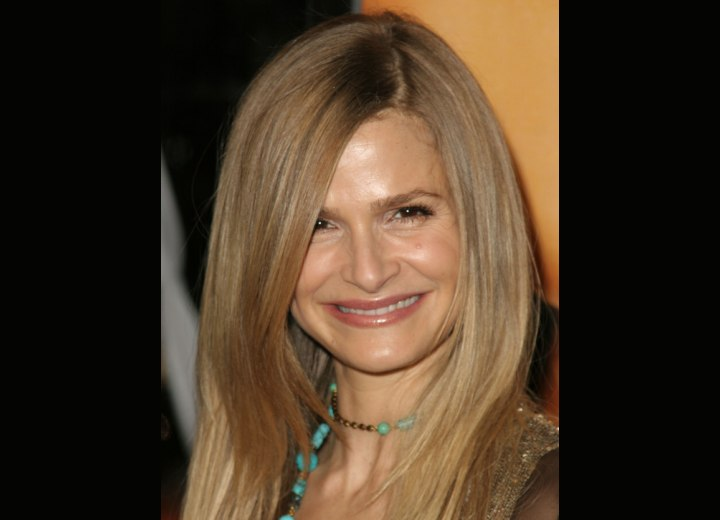 Crown view of Kyra Sedgwick's hair