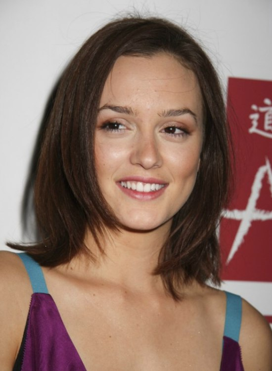 Leighton Meester With Her Hair Cut Into A Modernized Bob