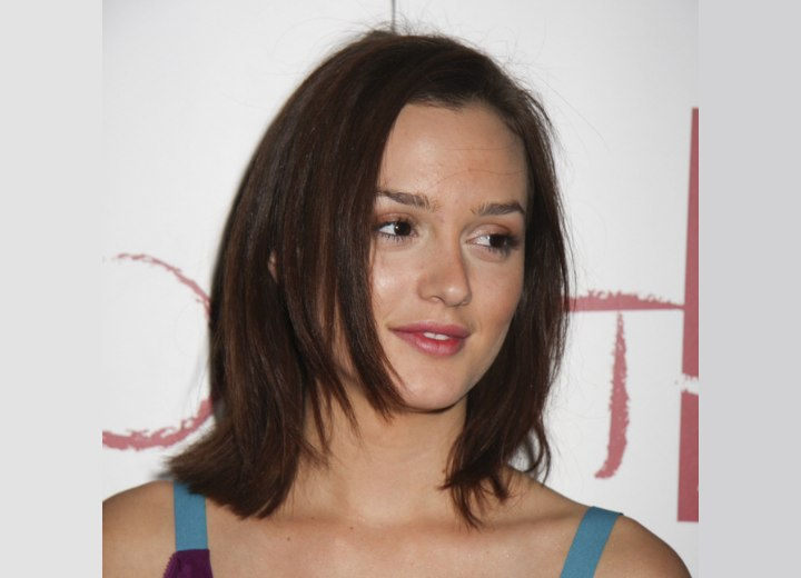 Leighton Meester's hair cut with different lengths