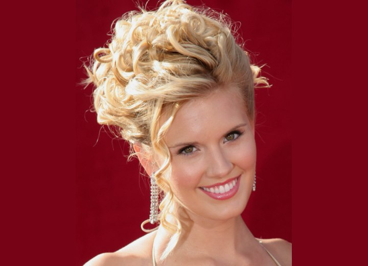 Updo with spiral curls - Maggie Grace