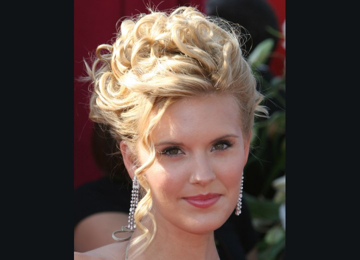 Up style with curls - Maggie Grace
