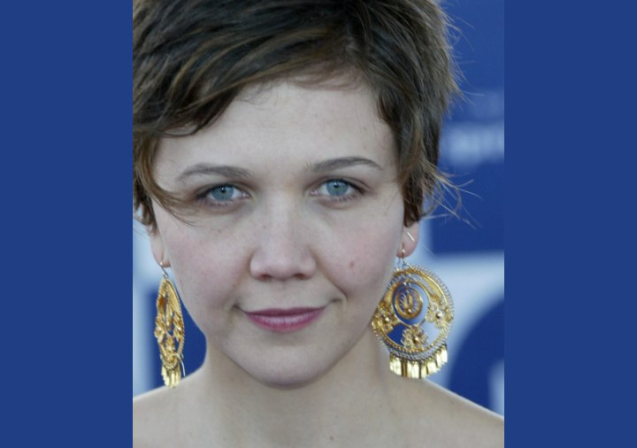 Close up photo of Maggie Gyllenhaal's hair