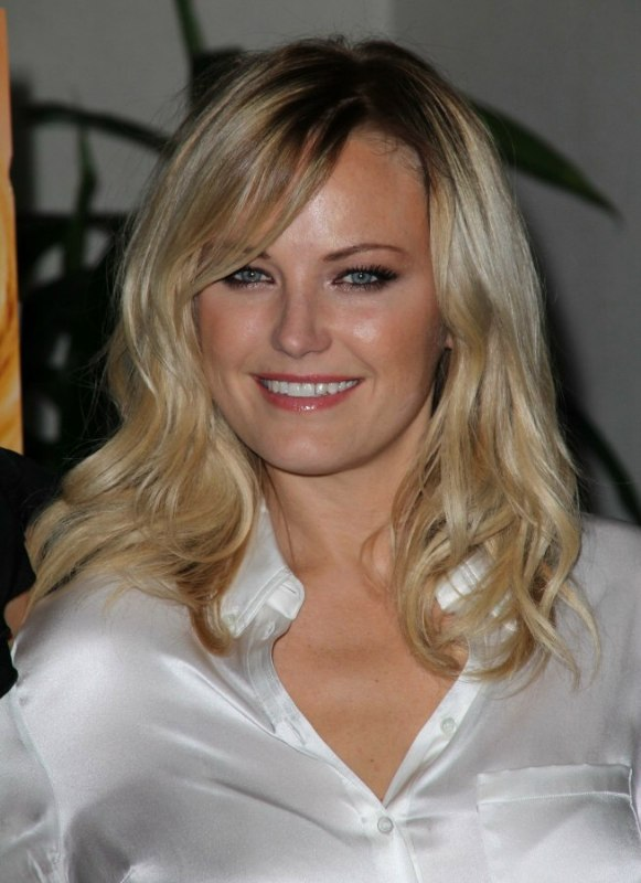 Malin Akerman S Professional Look With Long Carefree Hair