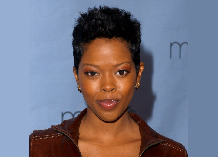 Short cropped hairstyle for black hair - Malinda Williams