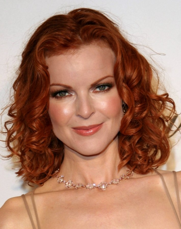 Marcia Cross Shoulder Length Red Hair With Curls