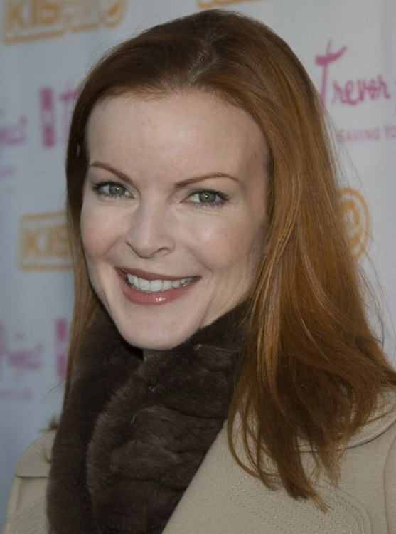 Marcia Cross With Long And Sleek Red Hair