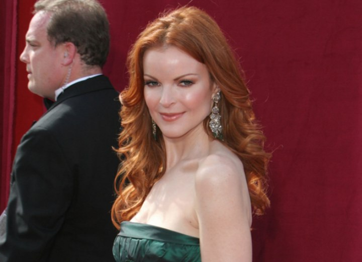 Green dress for red hair - Marcia Cross