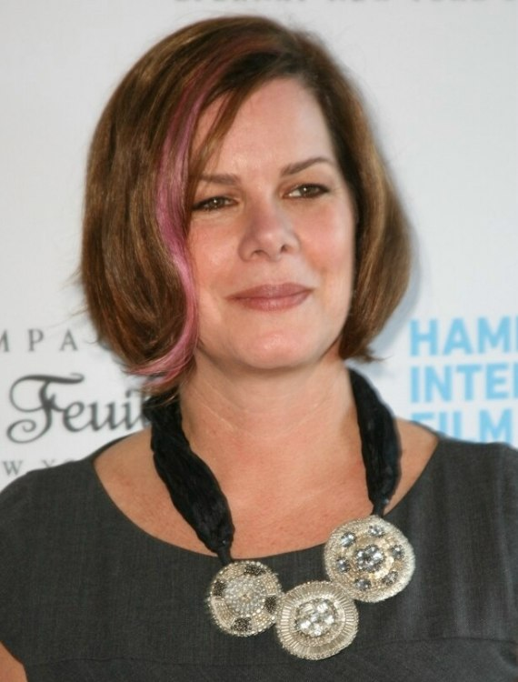 Marcia Gay Harden S Hair Cut Short In A Bob With A Pink