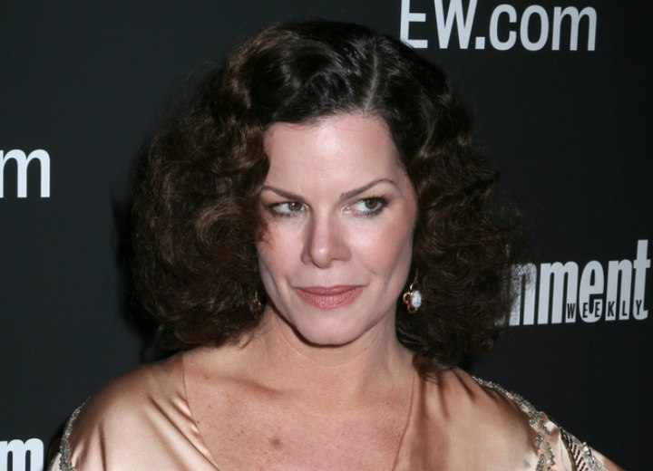 45 plus hairstyle with curls - Marcia Gay Harden