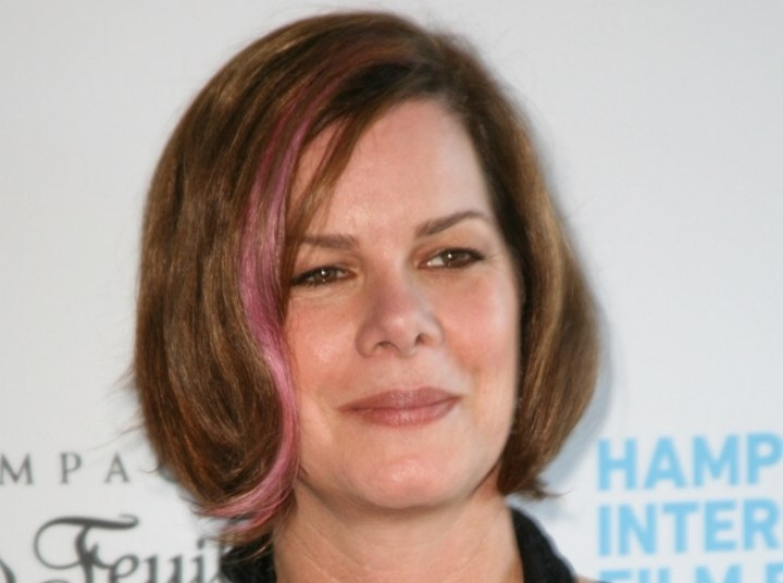 Marcia Gay Harden wearing her hair in a chin length bob