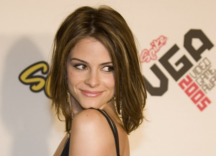 Dynamic medium length hairstyle - Maria Menounos
