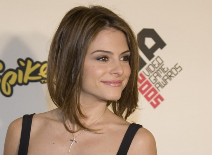 Bob hair cut with a shorter back - Maria Menounos