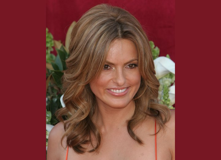 Mariska Hargitay's long hairstyle