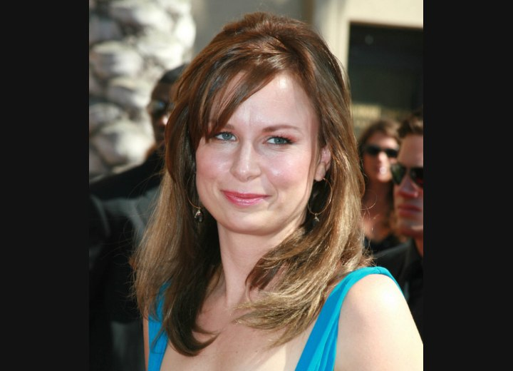 Long hairstyle for square face shape - Mary Lynn Rajskub