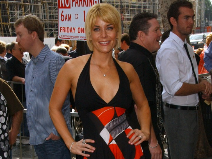 McKenzie Westmore with a halter dress and short hair