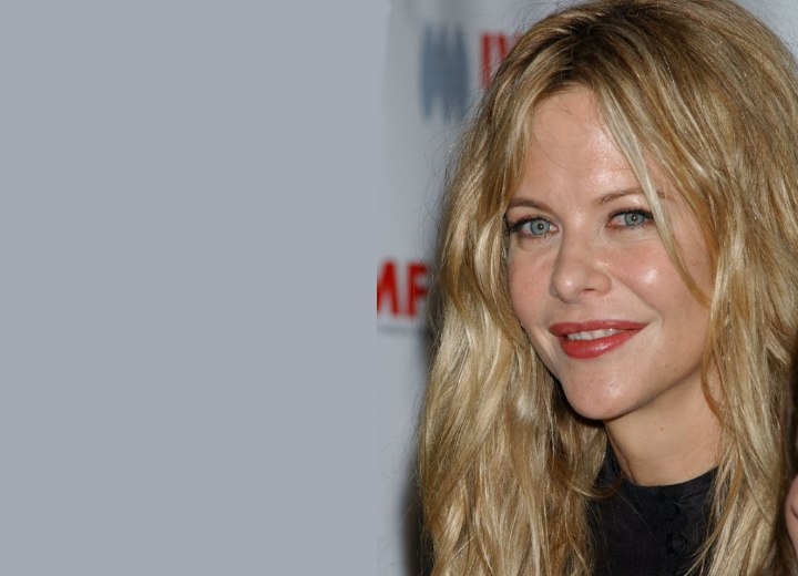 Meg Ryan's golden blonde hair