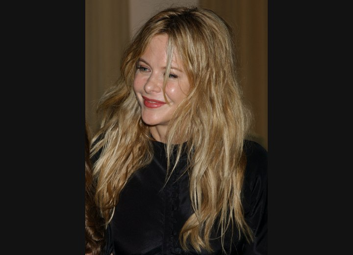 Meg Ryan wearing her hair long and open