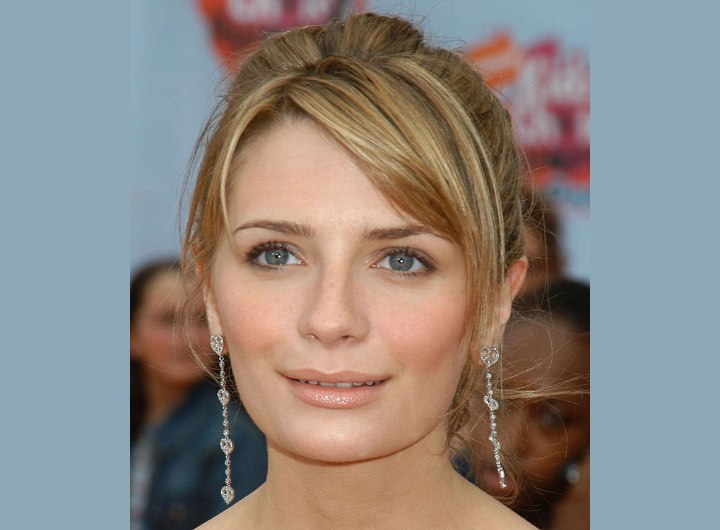 Mischa Barton wearing her hair up