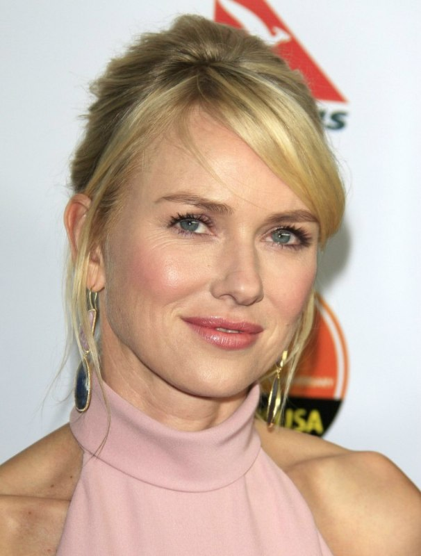 Naomi Watts Wearing Her Hair In An Updo With Loosely