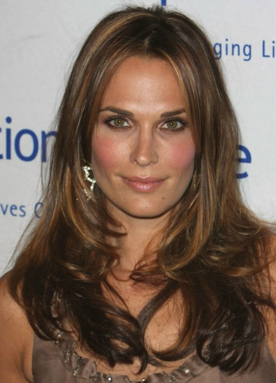 Molly Sims Long Hair With Different Shades Of Color And