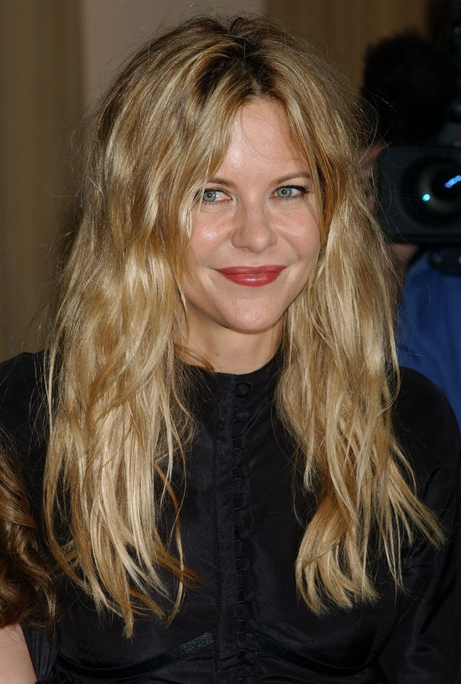 Meg Ryans Natural Look For Long Hair